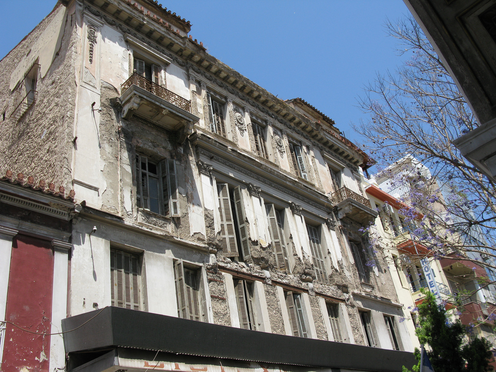 Building in Aiolou Street, Athens, Greece
