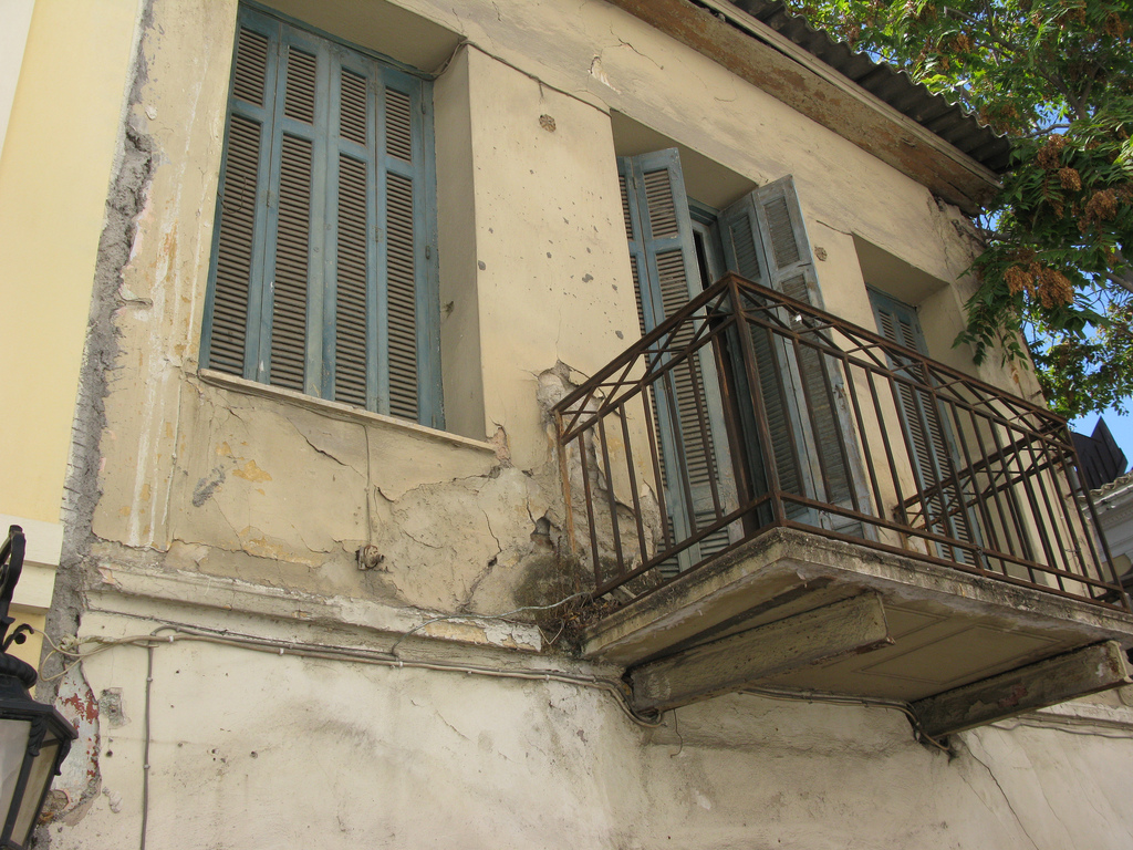 Abandoned Building in Plaka, Athens, Greece