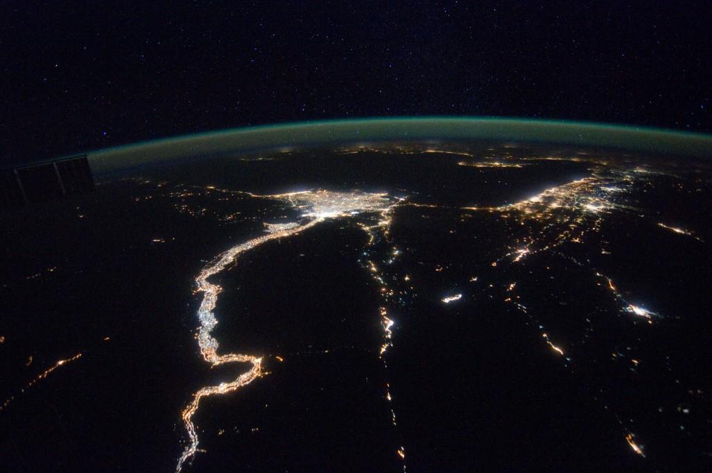 Night View Mediterranean Sea