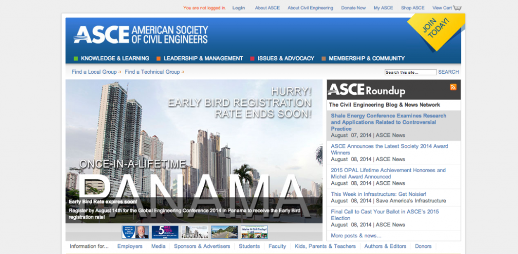 ASCE, American Society of Civil Engineers