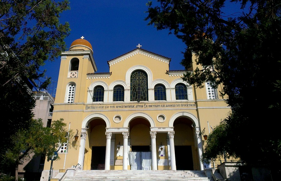 Saint Spiridon's church, Athens, Greece