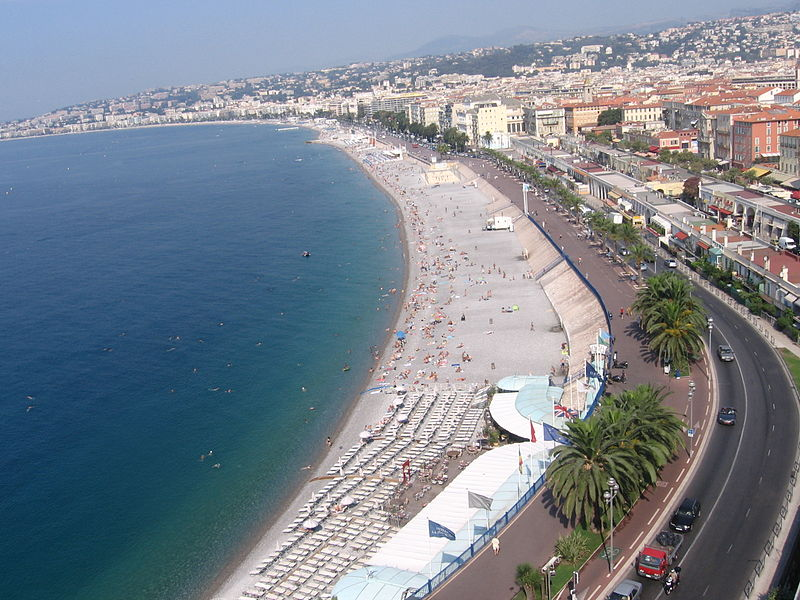 Beach View of City, Nice, France