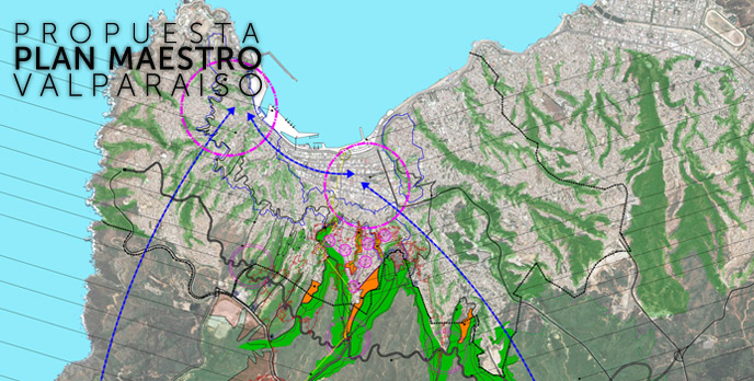 A map from the plan submitted by the college to rebuild Valparaiso, Chile