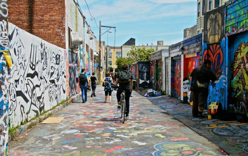 Mission District Graffiti alley, San Francisco, California.