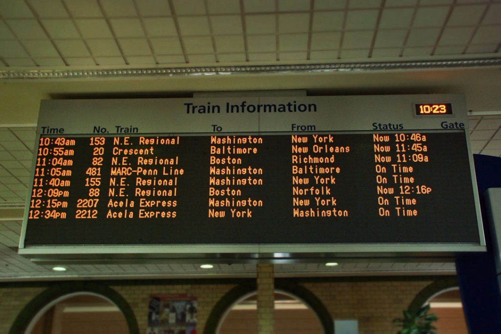 Train Information, Weekend Service, Baltimore City, Maryland