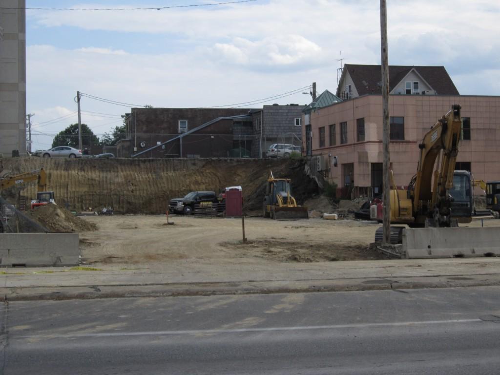 Campustown redevelopment construction, Ames, Iowa