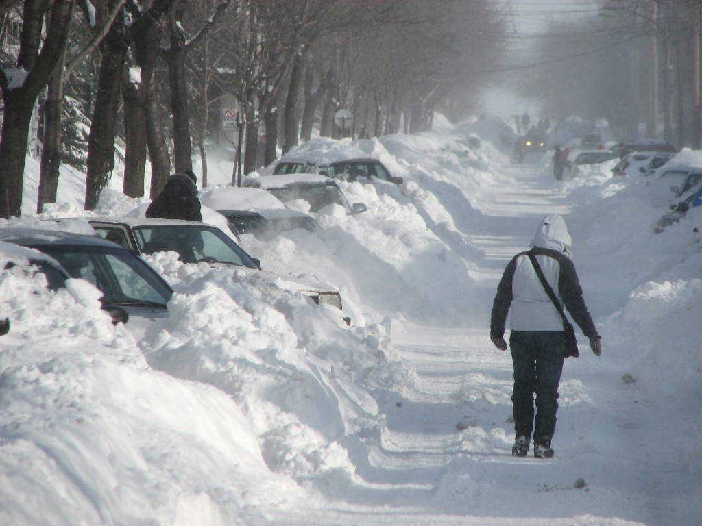 Snow, Montreal, Quebec, Canada