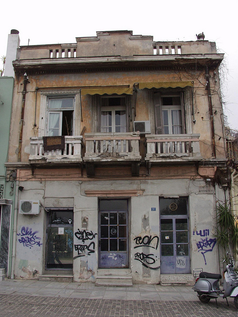 Abandoned Building, Thiseion, Athens, Greece