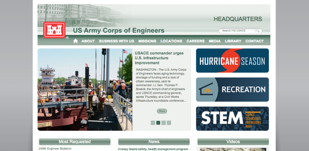 USACE, US Army Corps of Engineers