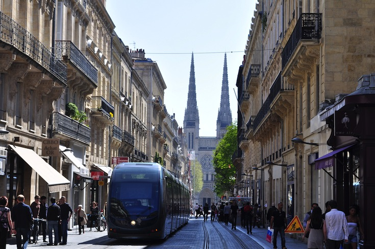 The tram system of Bordeaux, France