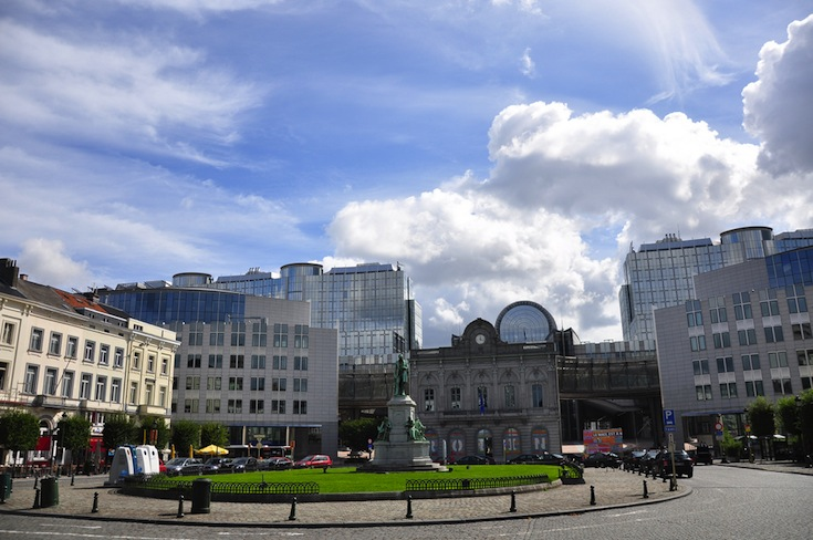 The heart of the European District of Brussels, Belgium