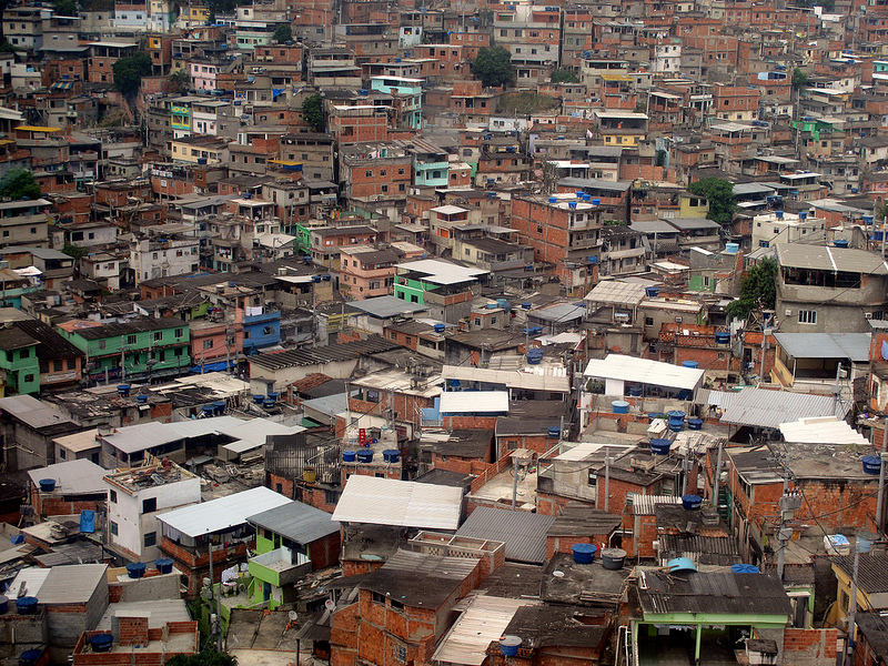 "An example of an informal settlement, or ""favela"" in Brazil."