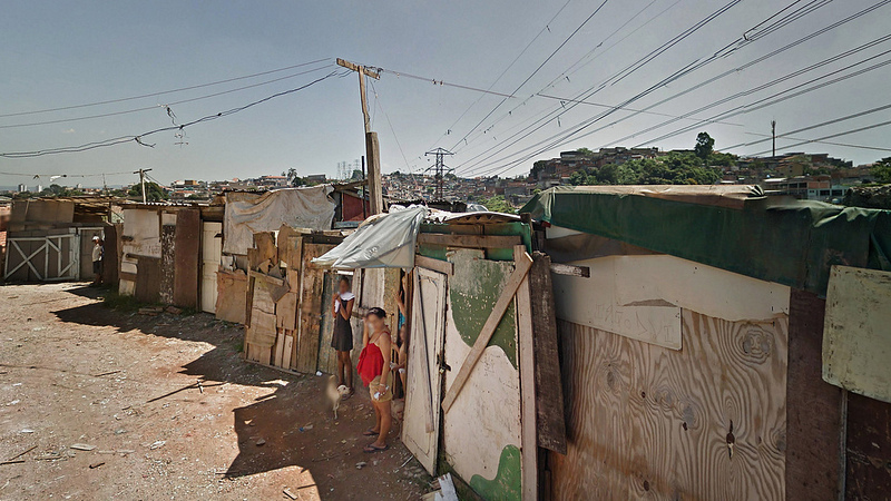 An example of the type of houses found in favelas in Brazil.