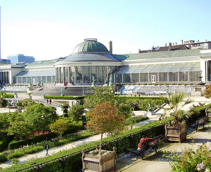 Botanical Gardens in Brussels, Belgium near St. Lazaire Square