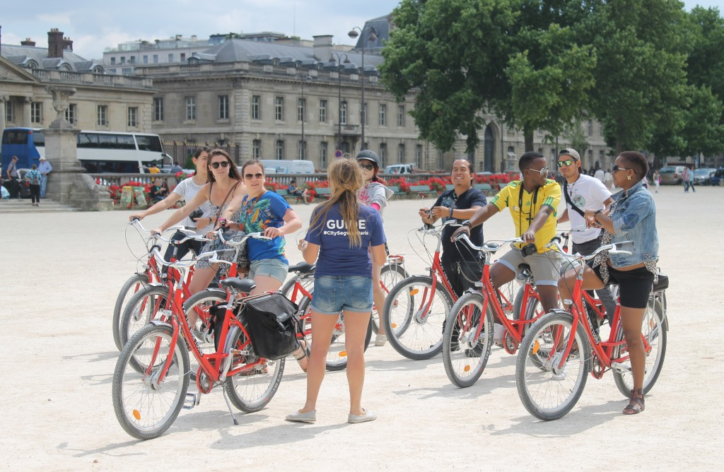 Bicycling in Paris, France
