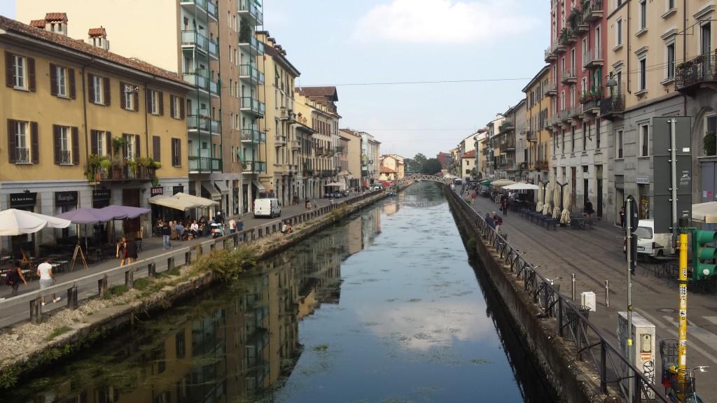 Naviglio Grande, Milan, Italy in 2014