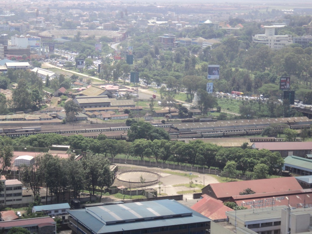 A railway Yard with several Trains, Nairobi, Kenya