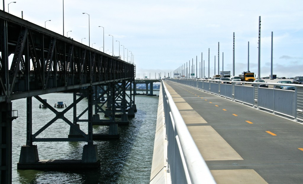 Bay Bridge Path, San Francisco Bay Area, California.