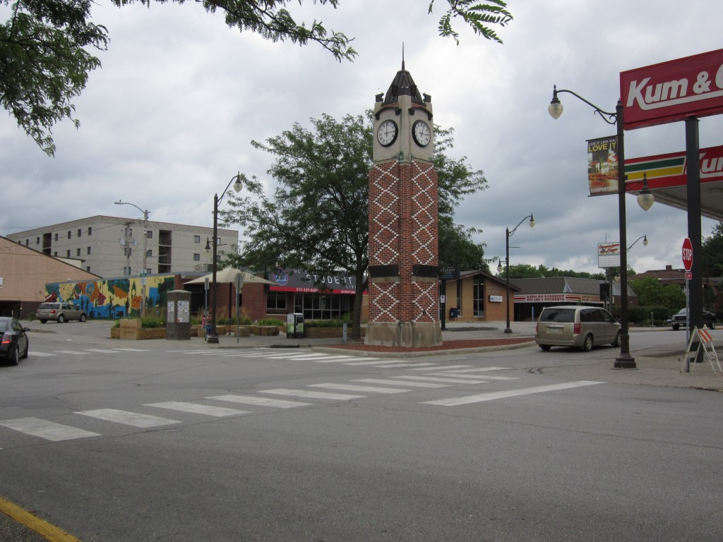 The Campustown district of Ames, Iowa