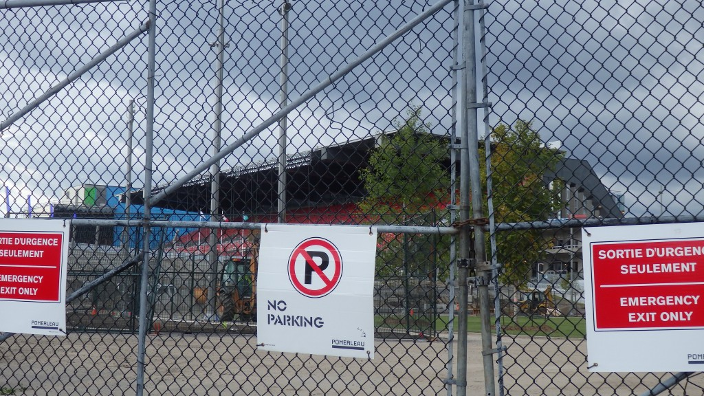 No Parking signs at TD Place, Ottawa, Canada