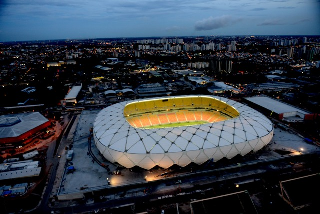 The Amazonia Arena in Manaus, Brazil.