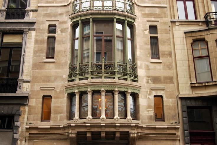An art deco influenced building in downtown Brussels, Belgium