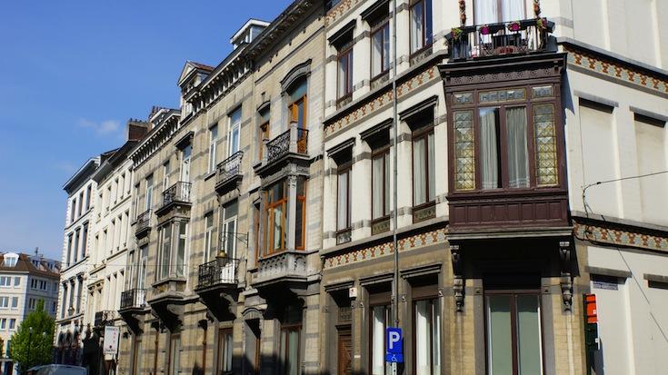 Historic façades in Brussles, Belgium