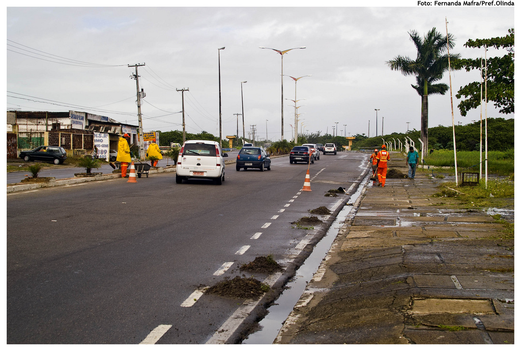 An example of road construction in Olinda, Brazil.