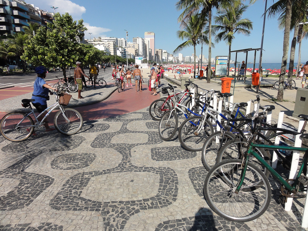 An example of bike lanes in Brazil.