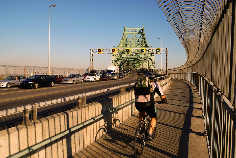 The Jacques Cartier Bridge in Montreal, Canada