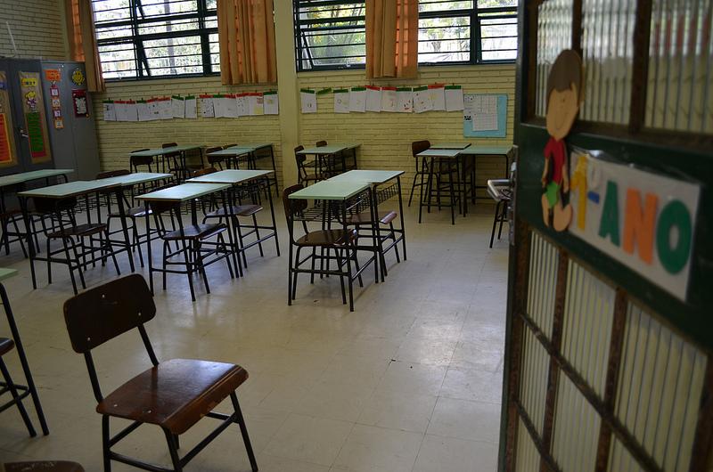 A classroom in Brazil.