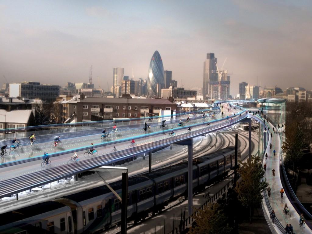 "Foster & Partners, ""SkyCycle"", London, UK."
