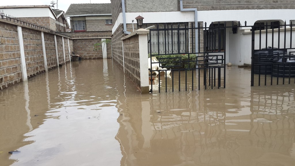 Urban Drainage Challenge after a major downpour in Nairobi, Kenya