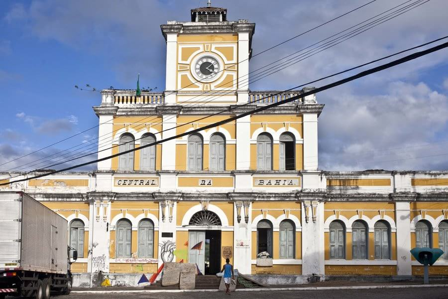 View of the former railway station of Bahia, Brazil.