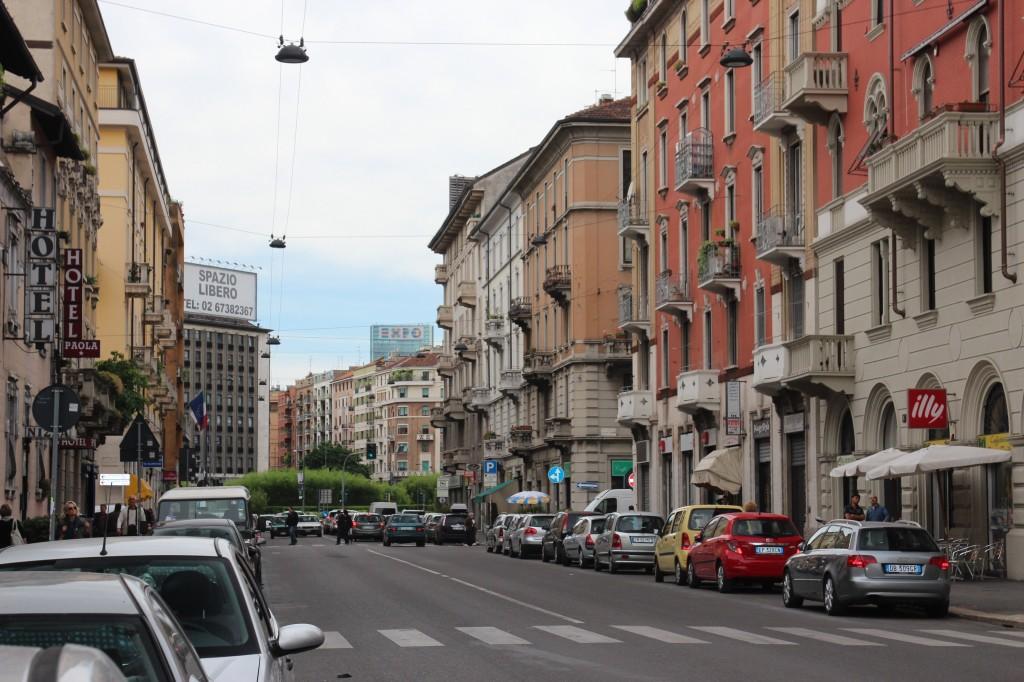 View of Loreto Square,Milan,Italy