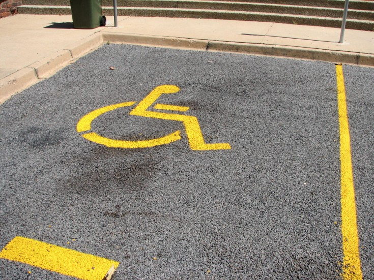 Disabled parking space, GMIT, Galway, Ireland