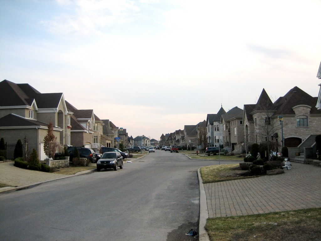 Montreal, Quebec, Canada suburbs