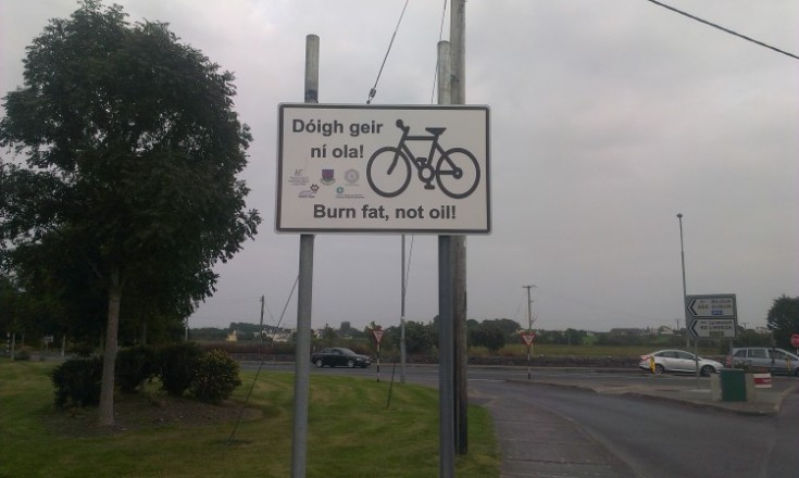 Galway County Council encouraging cycling, Ireland