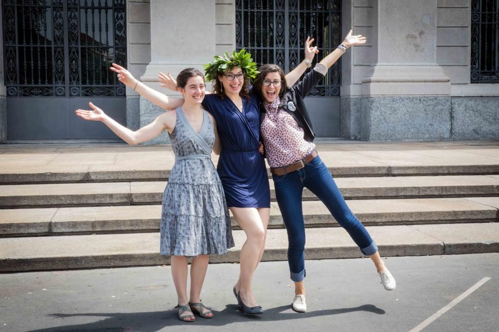 Alexandra Serbana and her international friends,Graduation at Politecnico di Milano,Milan,Italy