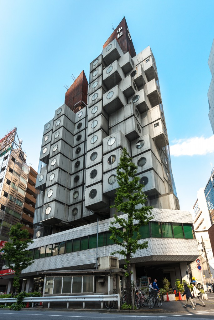 Metabolist Nagakin Capsule Tower, Tokyo, Japan