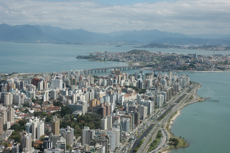The city of Florianopolis, Brazil.