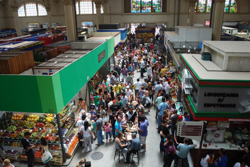 The Mercado Central in Sao Paulo, Brazil