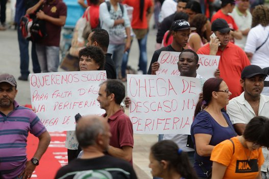 The MTST demonstration for water rights on the outskirts of Sao Paulo, Brazil.