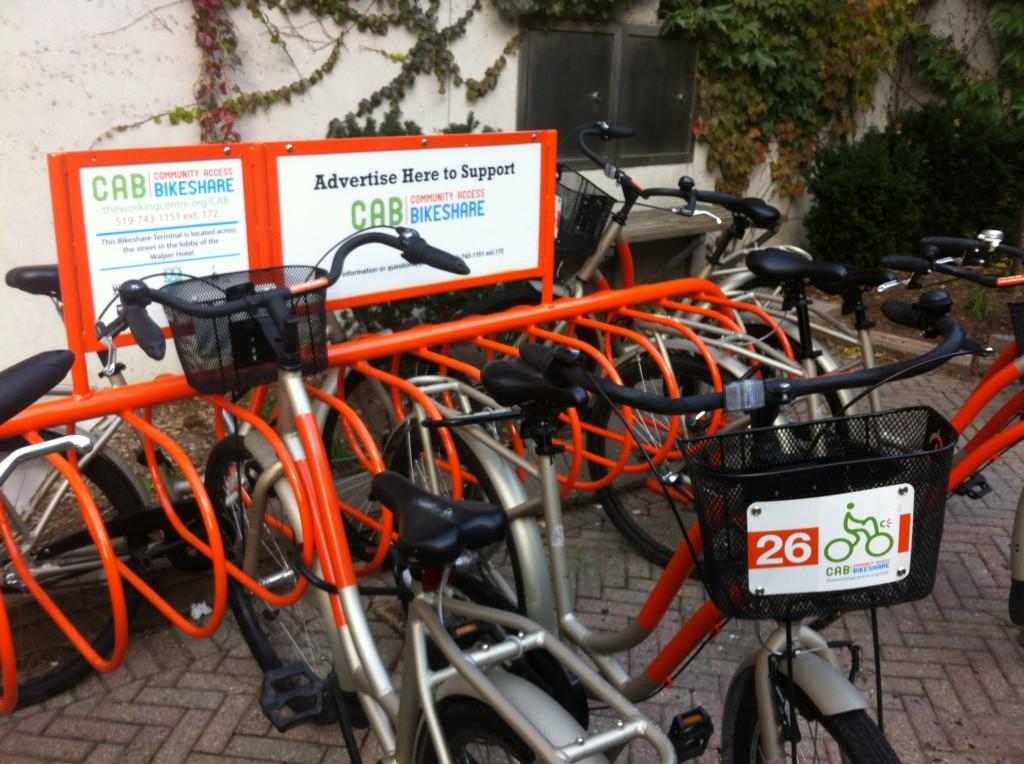 CAB Bikes, Community Access Bikeshare, Ontario, Canada