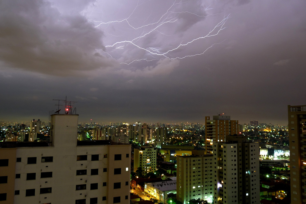 Another lightning storm in a Brazilian city.