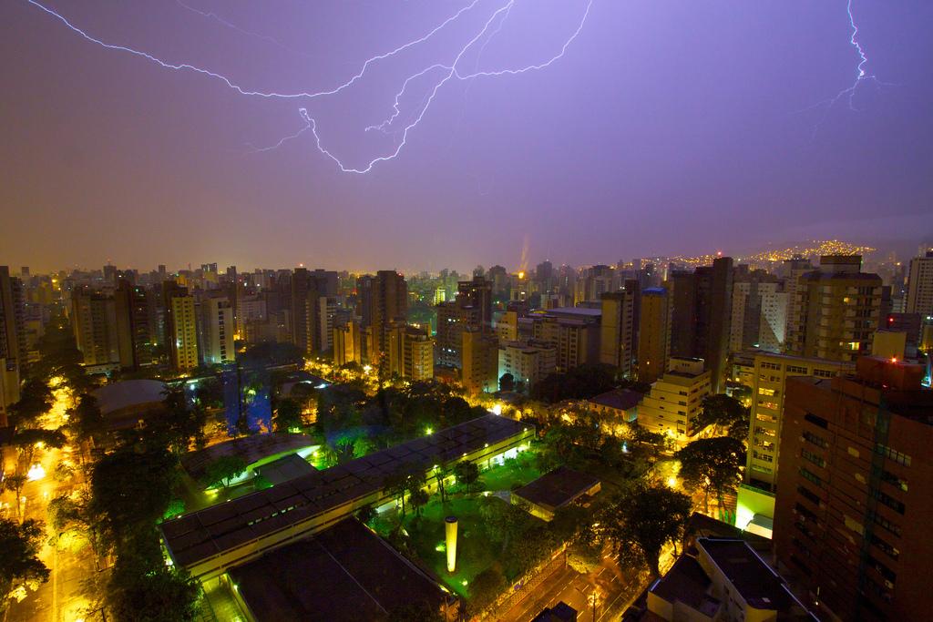 An example of an urban lightning storm in Brazil.