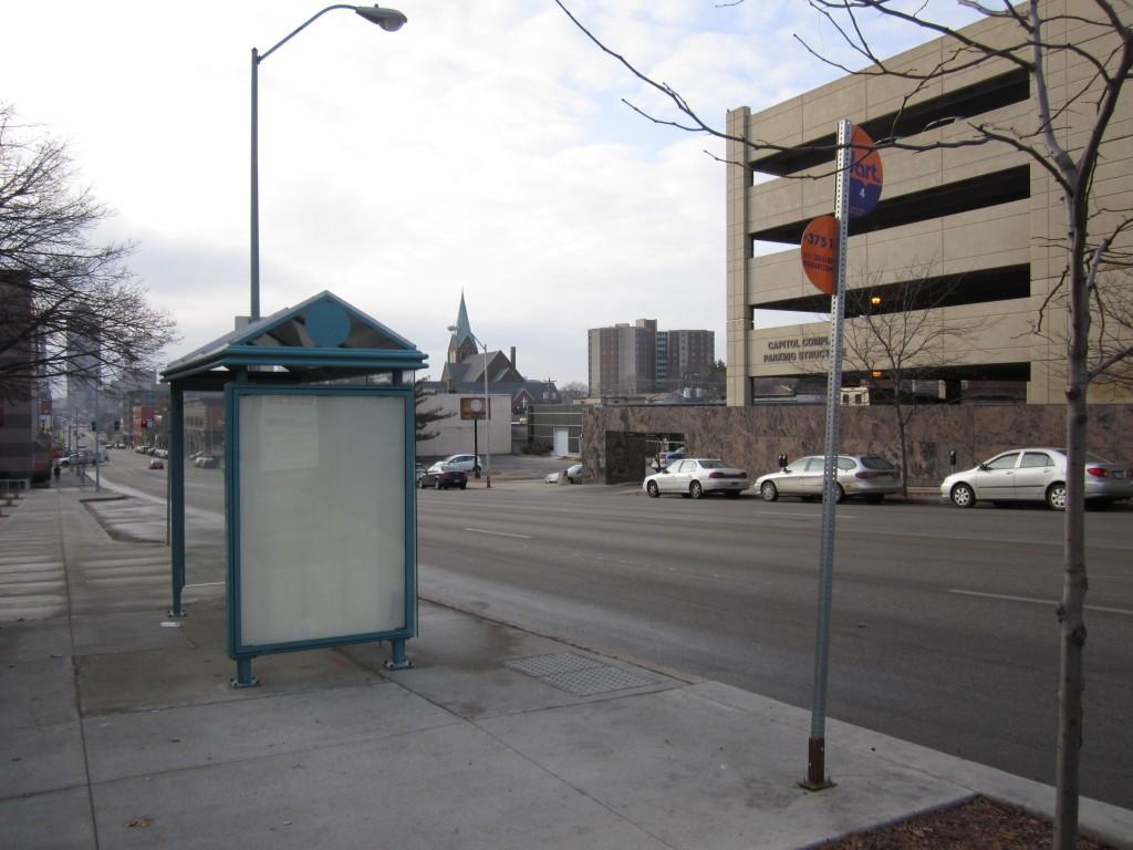 Des Moines, Iowa bus stop