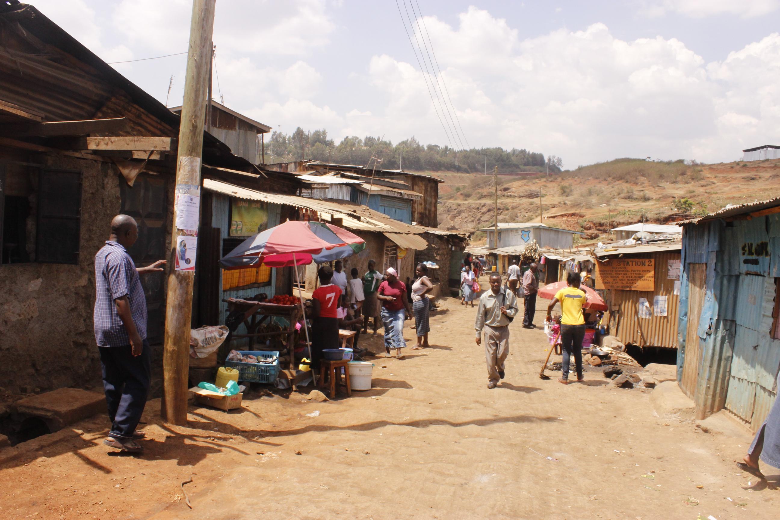 Part of Kibera Slum, Nairobi, Kenya