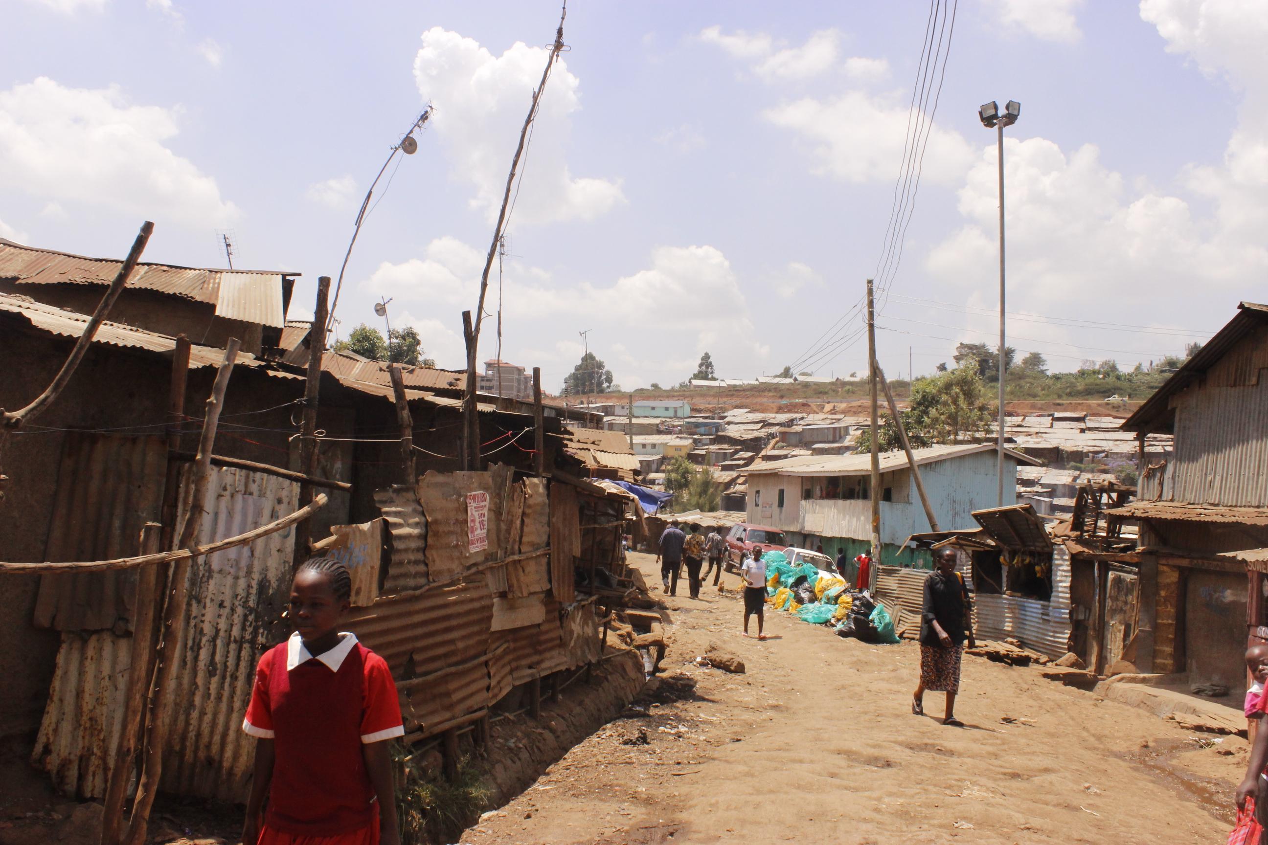 Houses in Kibera Slum, Nairobi, Kenya