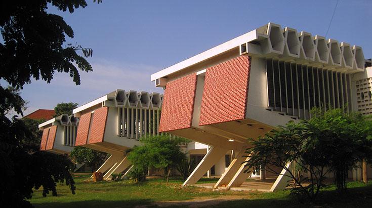 Molyvann architecture in Phnom Penh, Cambodia